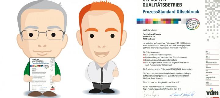 dierotationsdrucker.de stehen für Qualität – PSO-Zertifizierung für Bechtle Druck&Service