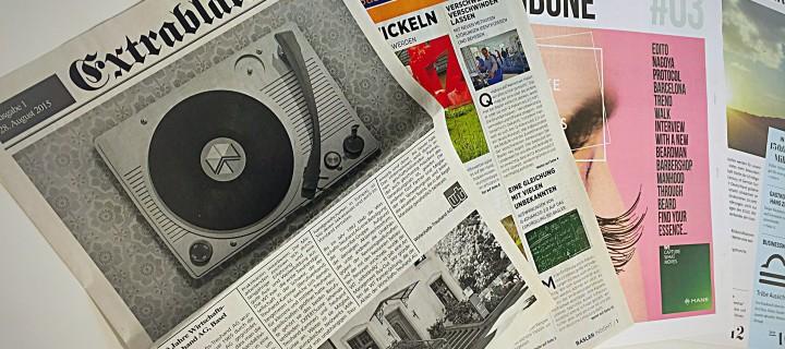 Digitaler Zeitungsdruck im Tonerdruckverfahren