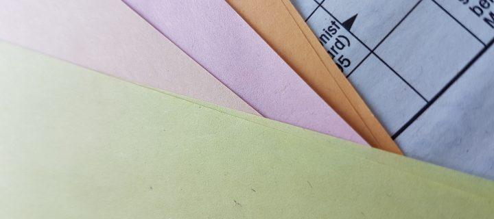 farbiges papier mauve