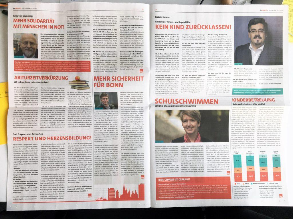 Wahlwerbung im Zeitungsdruck