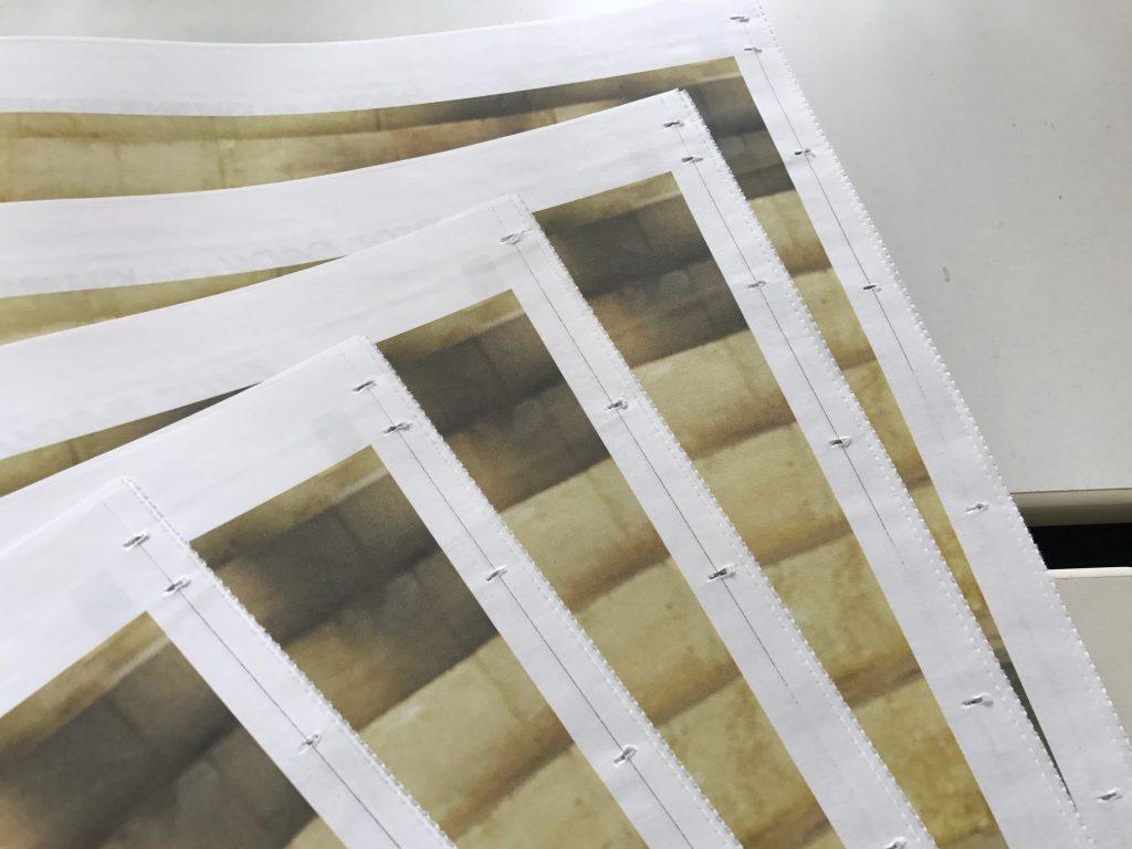 Plattenkante beim Zeitungsdruck