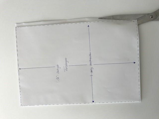 Faltbogenbeschnitt mit Schere
