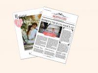 Hochzeitszeitung auf echtem Zeitungspapier