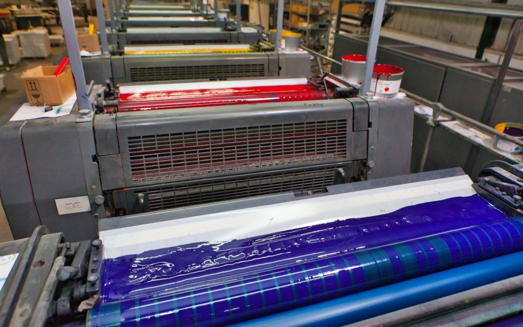 Farbe in Druckmaschine